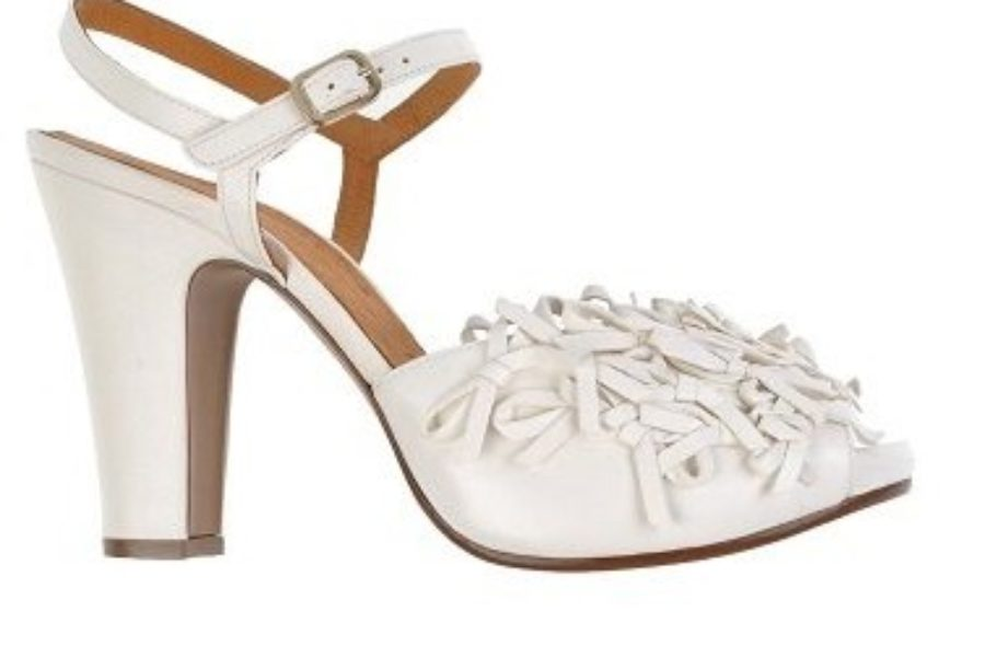 Shoe of the Week: Chie Mihara Frilly White Sandal