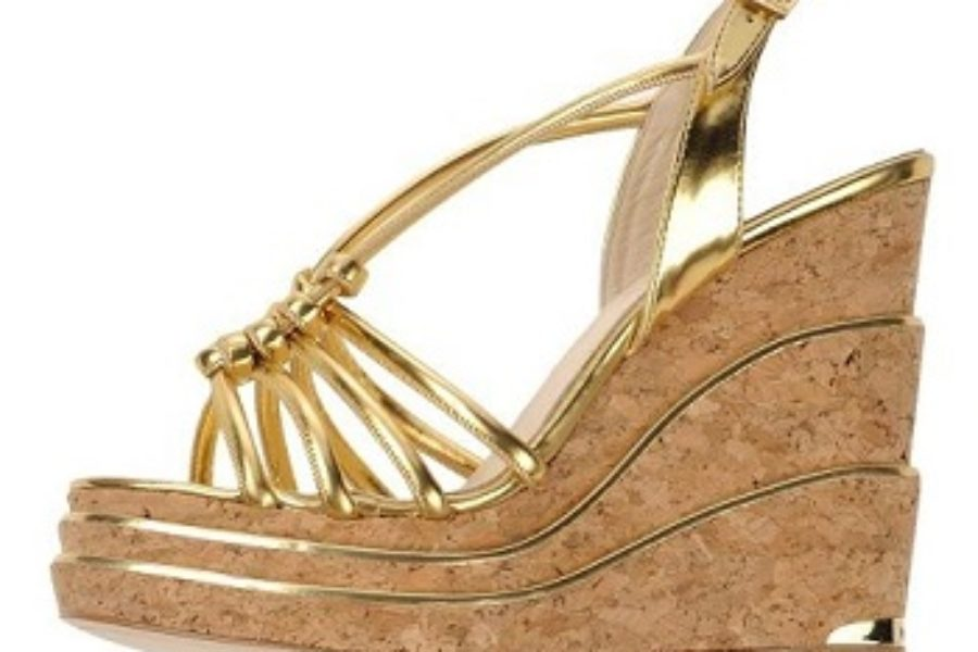 Paloma Barceló Gold Leather Sandals