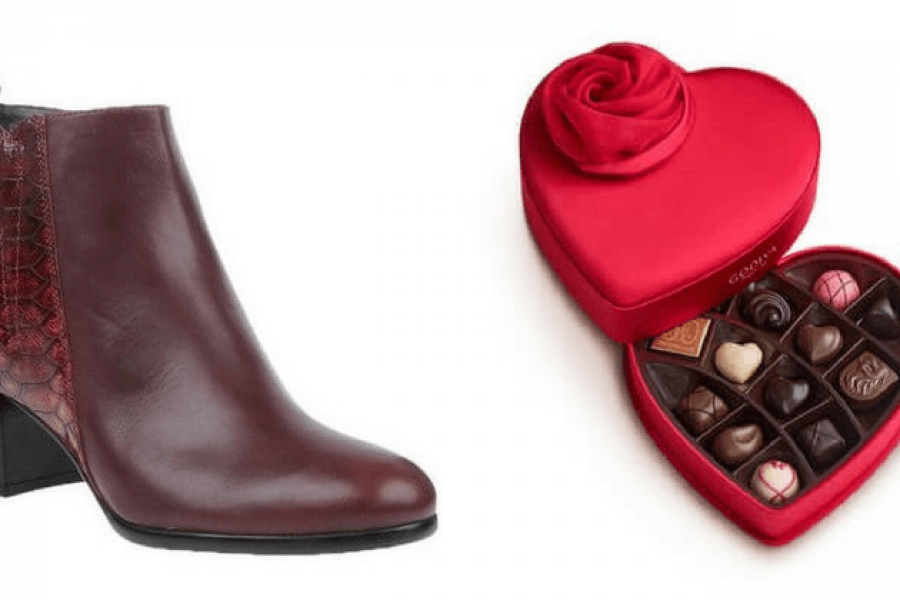 Shoes and Chocolate For Valentine's Day