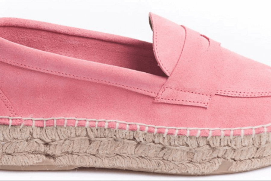 Pink Suede Moccasin by Abarca Shoes