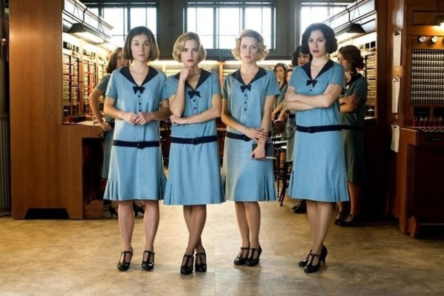 "Vintage Heels in ""Cable Girls"""